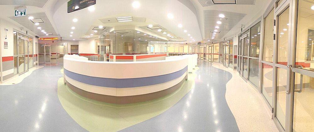 דלתות במחלקת ילדים בבית חולים