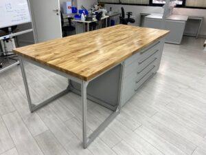 שולחן אלומיניום משטח שולחני בוצ'ר בלוק