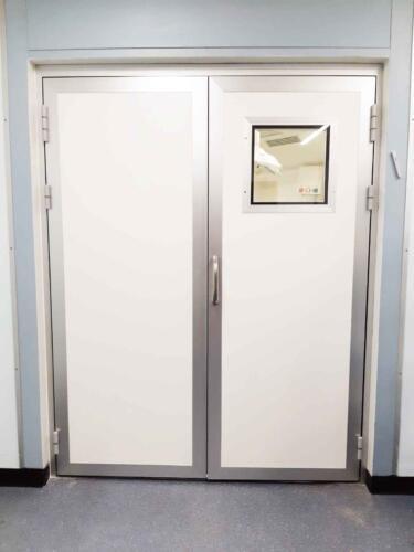 דלת דו-כנפית פתיחה חשמלית